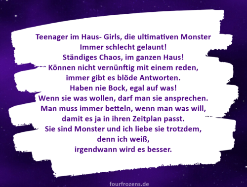 Teenager im Haus- Girls, die ultimativen Monster