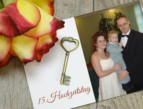15. Hochzeitstag – Kristallhochzeit